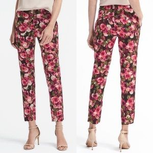 "Banana Republic floral ""Avery"" ankle pants"